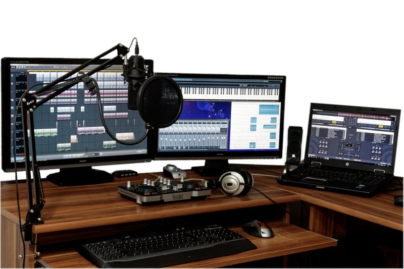 recording equipment setup microphone