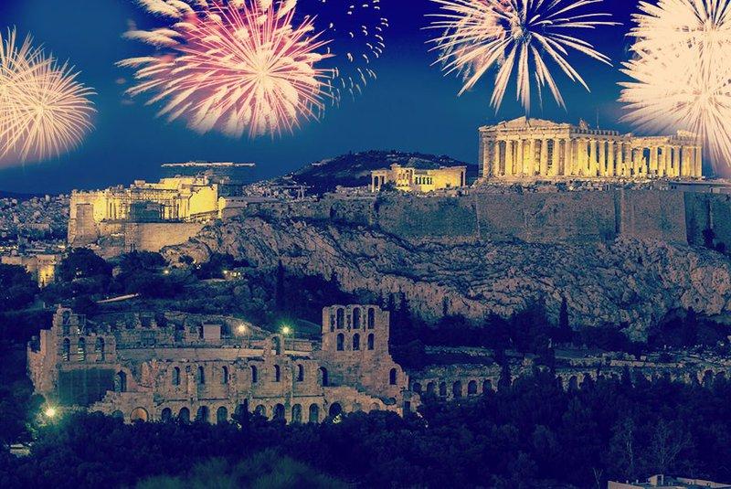 nieuwjaar vieren in Athene