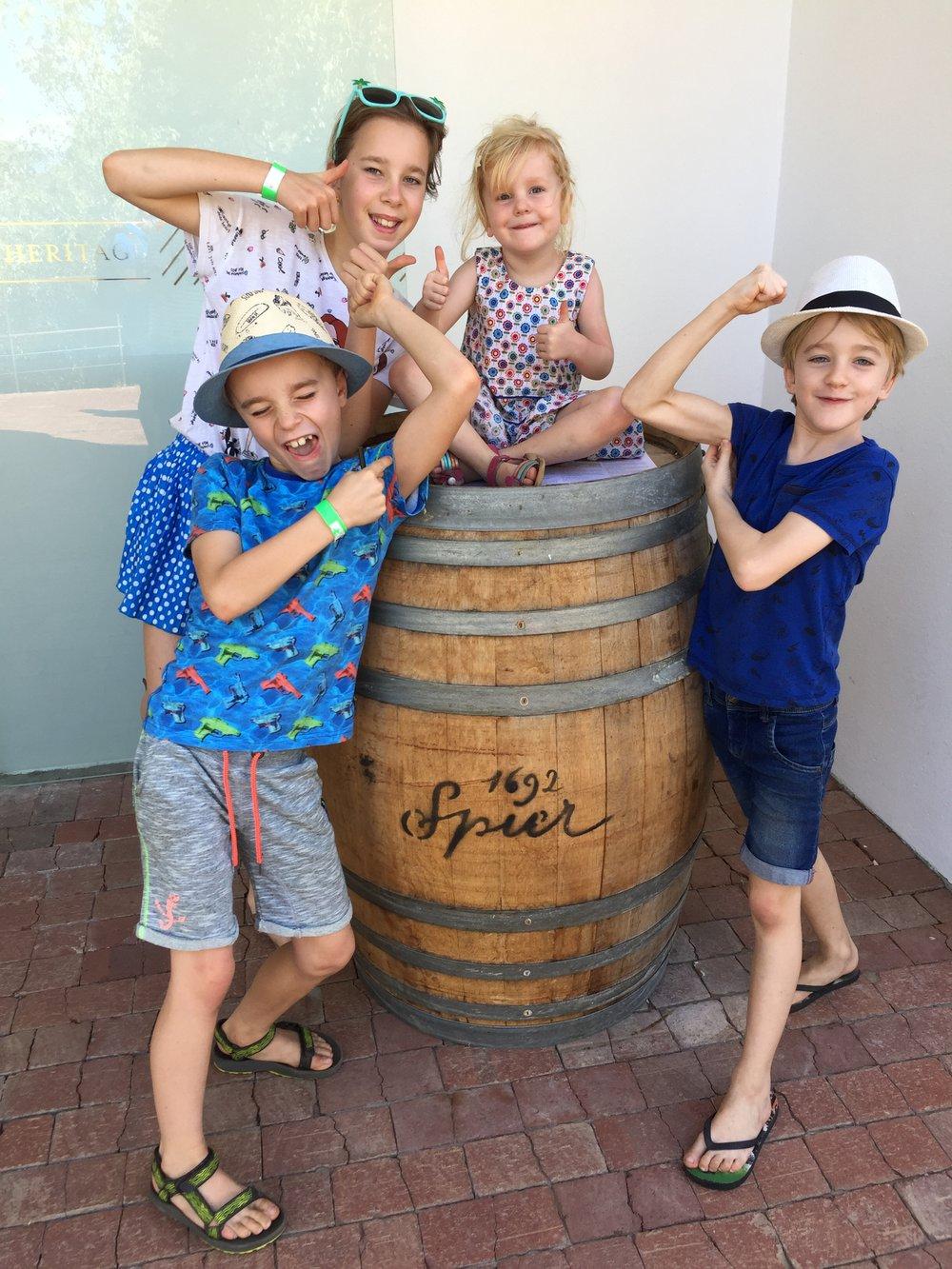 Wijnproeven met kinderen in Stellenbosch