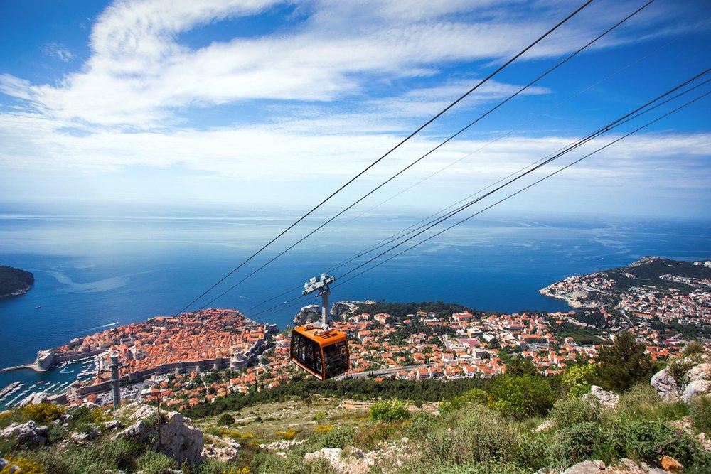 Een ritje boven Dubrovnik zit in de lift!