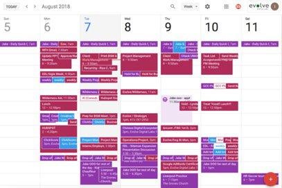 effective meetings calendar
