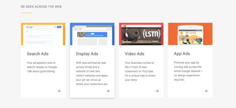 google ads domination ad types