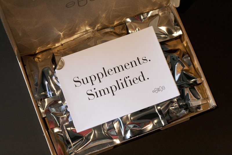 A box of Upplement Vitamin Packs with Supplements SImplified on Paper