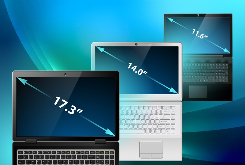 How to find the size of a laptop Screen