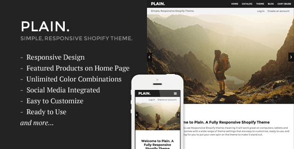 Plain shopify theme
