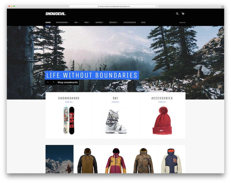 snowdevil shopify theme