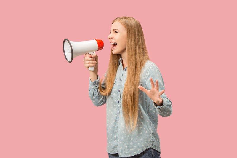 a popup modal is a virtual megaphone