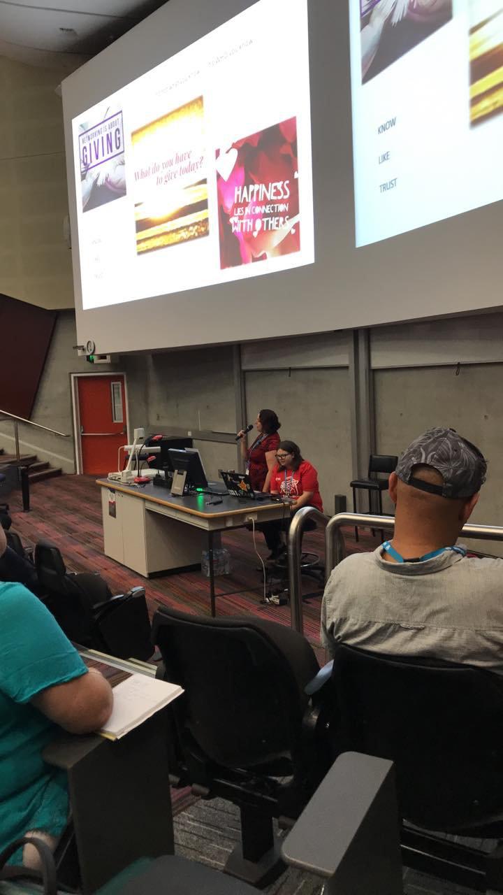 Sally Eberhardt presenting up a storm at WordCamp Brisbane 2018