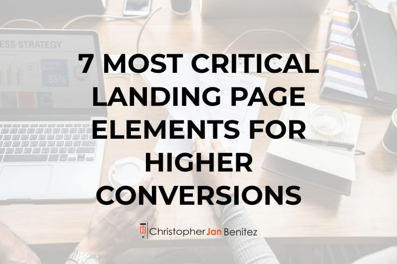 landing page elements