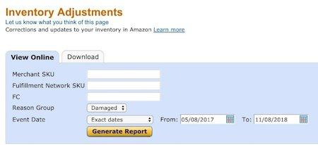 Amazon Damaged Inventory Refund