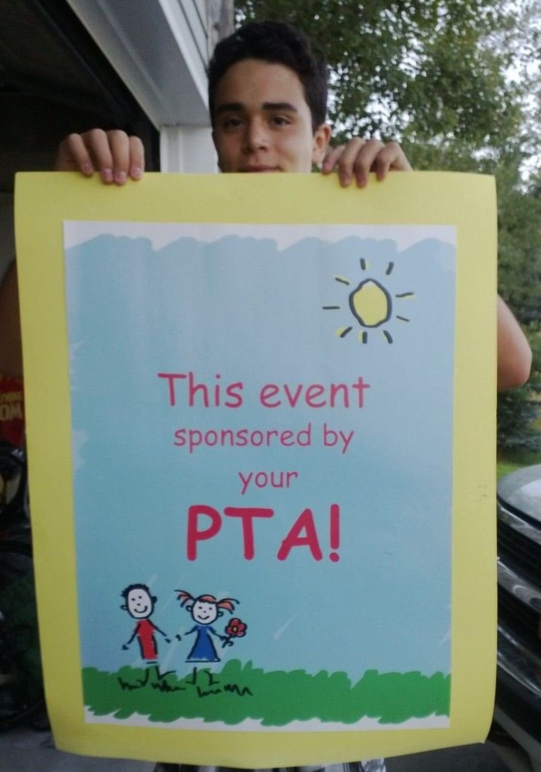 Large pster: This event is sponsored by your PTA