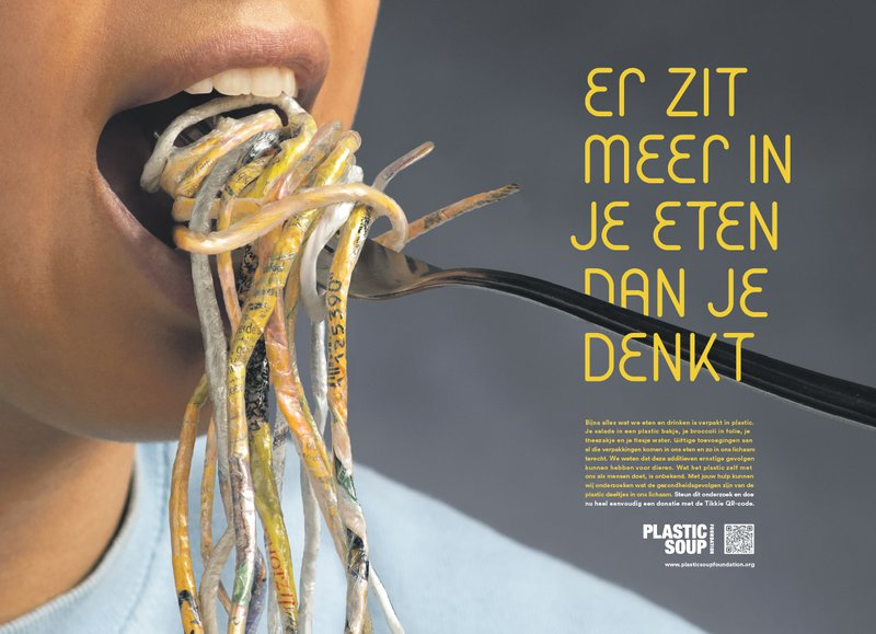 Advertentie Plastic Soup Foundation voor de NRC Charity Awards 2018