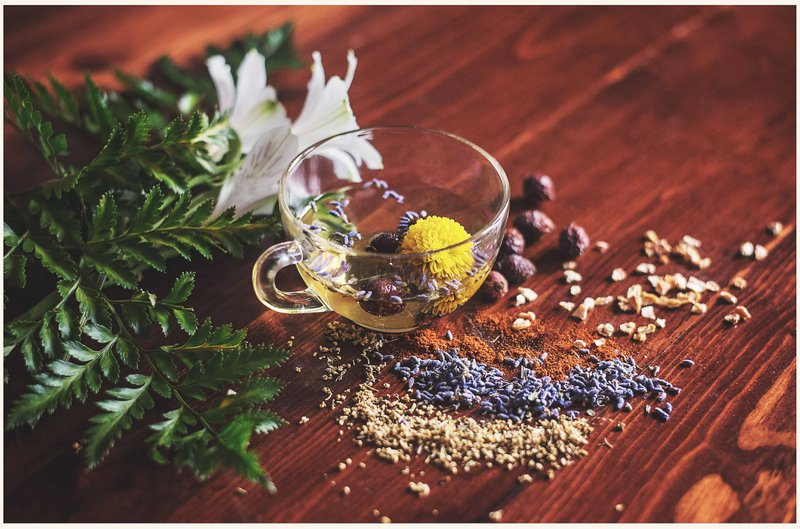 Herbal tea with dried herbs