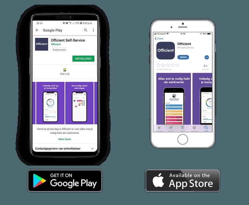 Officient lanceert self-service applicatie op Google Play en App Store