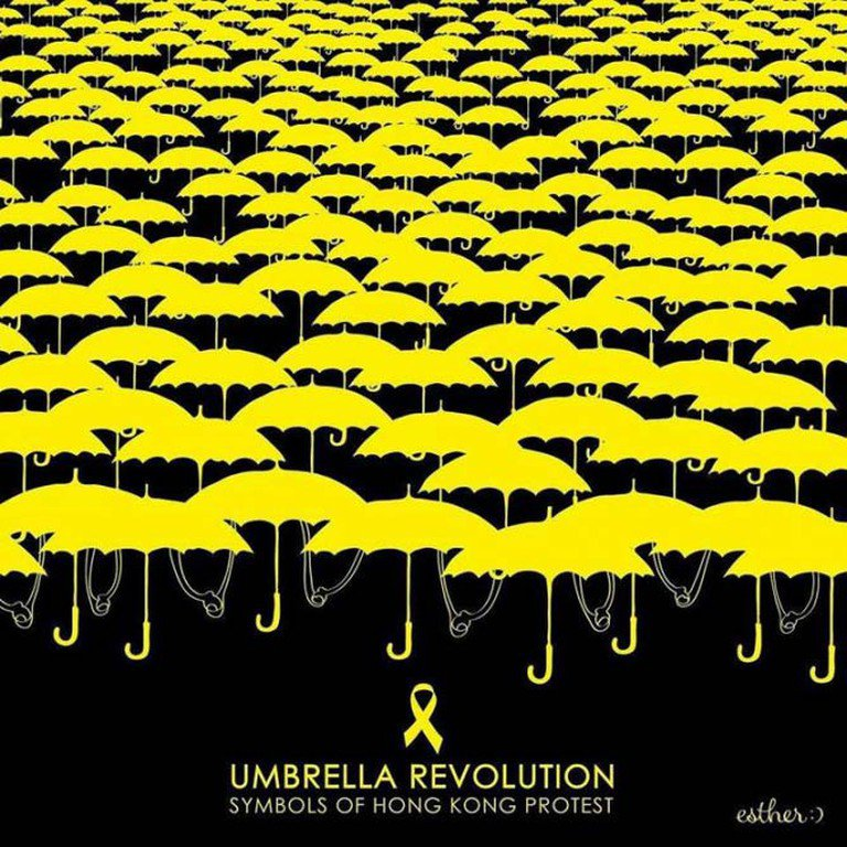 The Yellow Umbrella Symbol for the Hong Kong Independence Movement