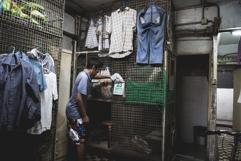 Hong Kong's Cage Homes, with appalling living conditions