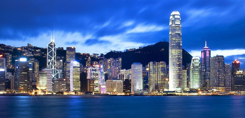 Hong Kong's Skyline and Financial District
