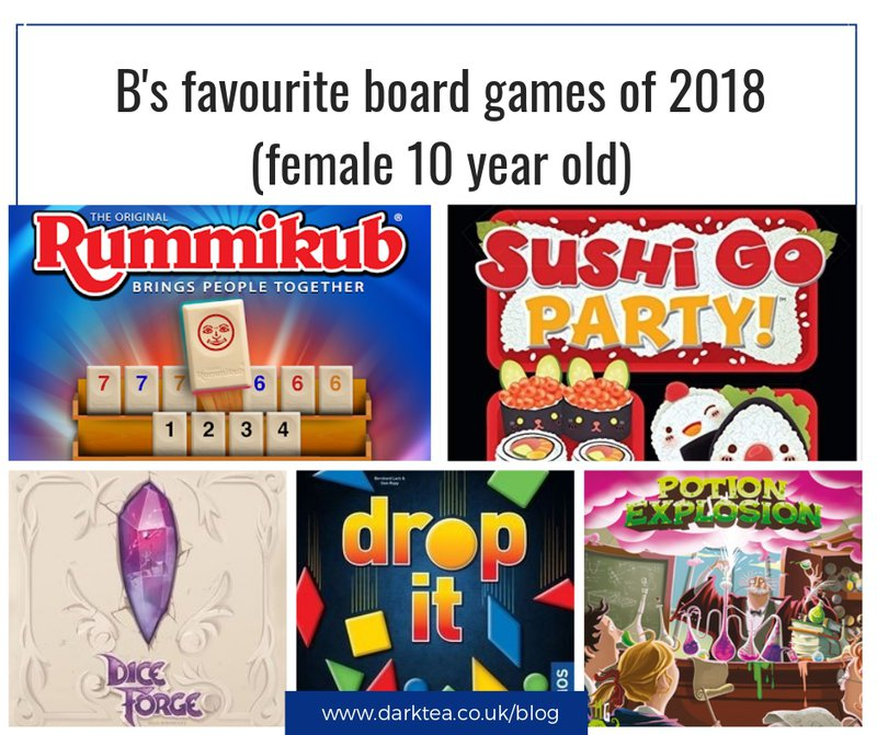 female 10 year old's favourite board games