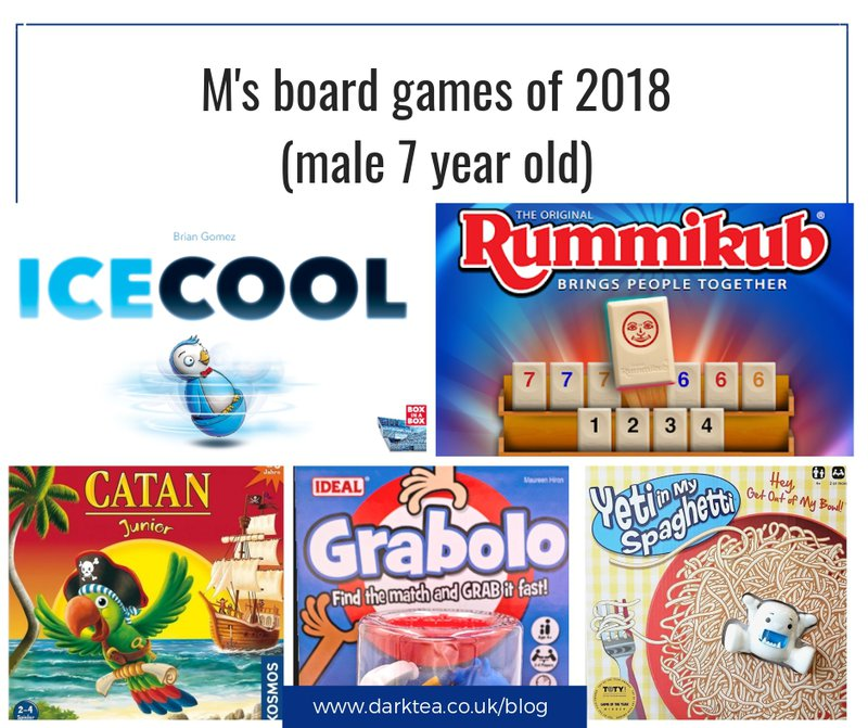 7 year old male's favourite board games