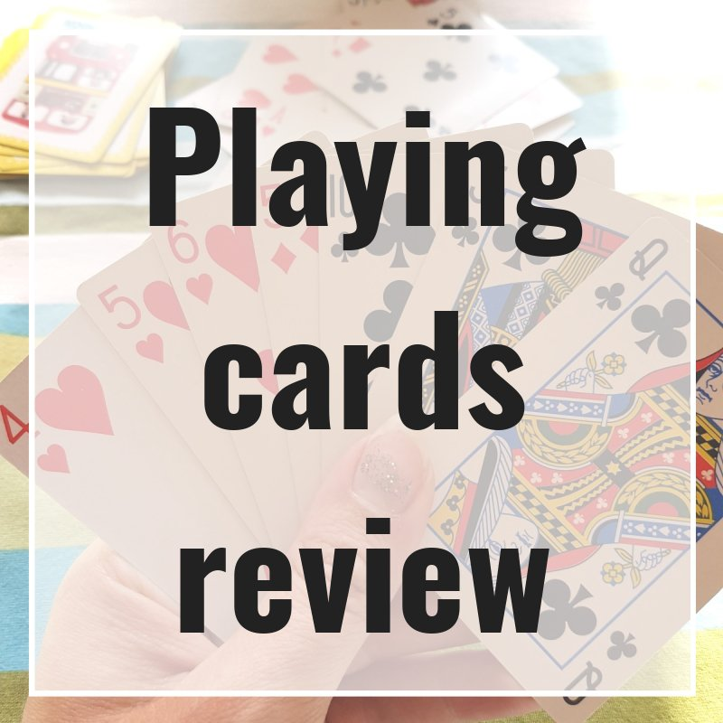 Playing cards are so versatile that there are games you can play from a young age such as snap. The main limiting factor we've experienced is small hands can find it hard to hold a lot of cards. It is possible to find card games which are played single player (patience) upwards, particularly if you combine more than one set of cards.