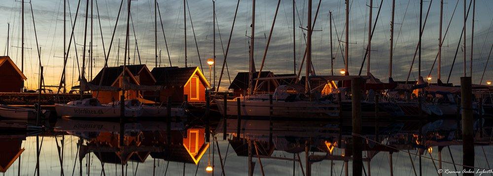 struer marina in the evening