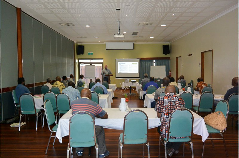 Landowners, local authorities, and PNG Biomass staff attending a PNG Biomass project update meeting.