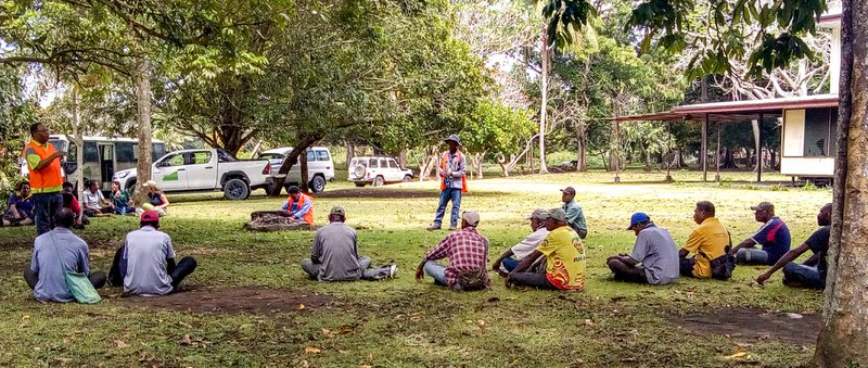 ILG Director Iruna Rogakila addressing a landowner leaders group at Chivasing Ranch.