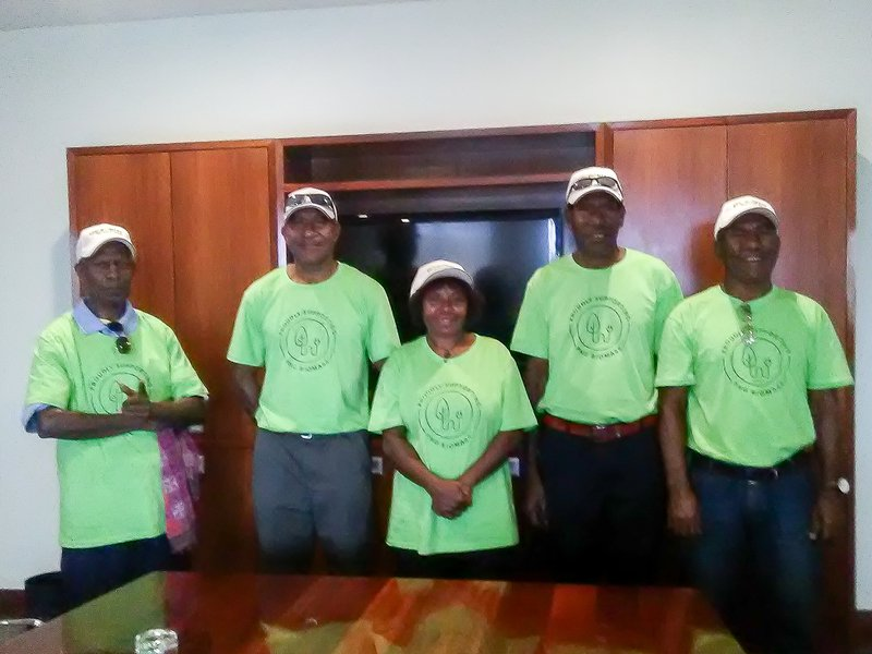 The five landowners from the Markham Valley representing over 60 families that are participating in the PNG Biomass project