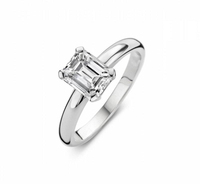 Hoekige ring - vierkante ring - rechthoekige ring - Martens Juwelier-Createur - House of Weddings