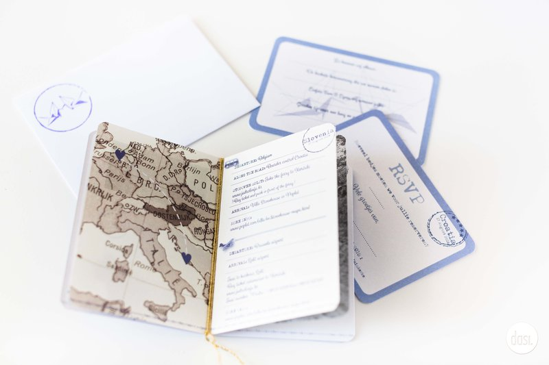 Uitnodiging boarding pass - Dasi - House of Weddings