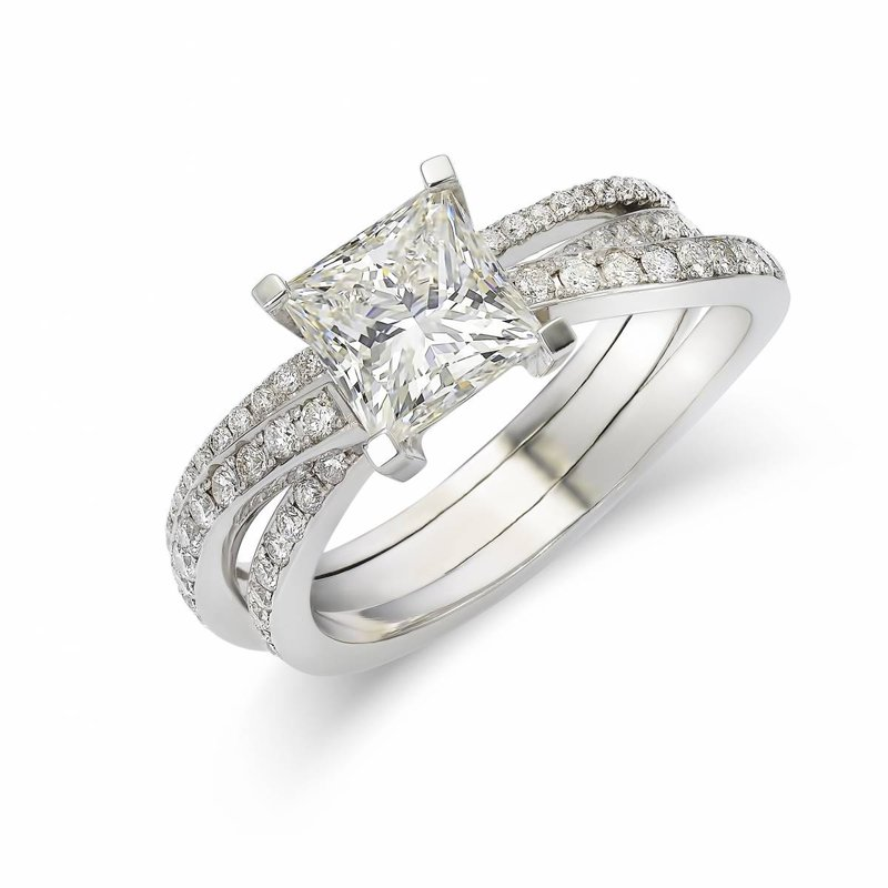 Princess cut ring Heursel - House of Weddings