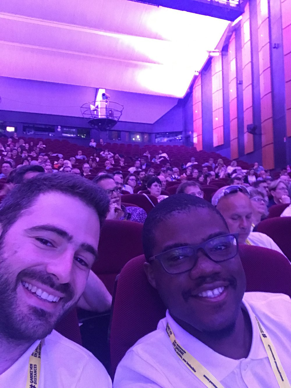 Romain BARRIER & Cédric QUADJOVIE avant le pitch au congrés