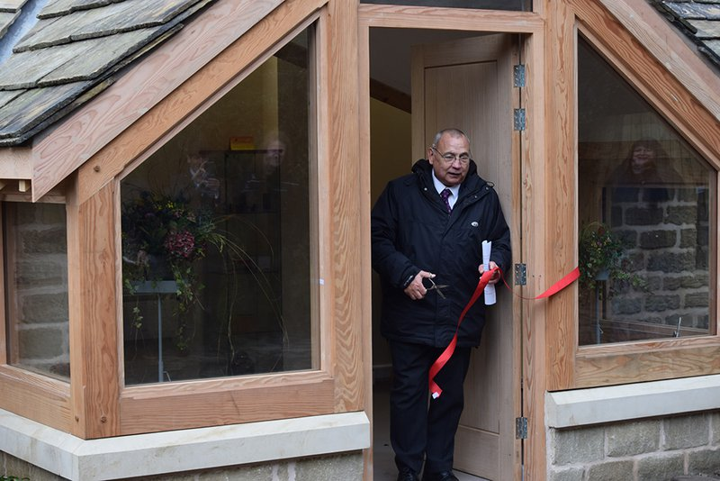Cutting the ribbon at a new pet crematorium in barnsley