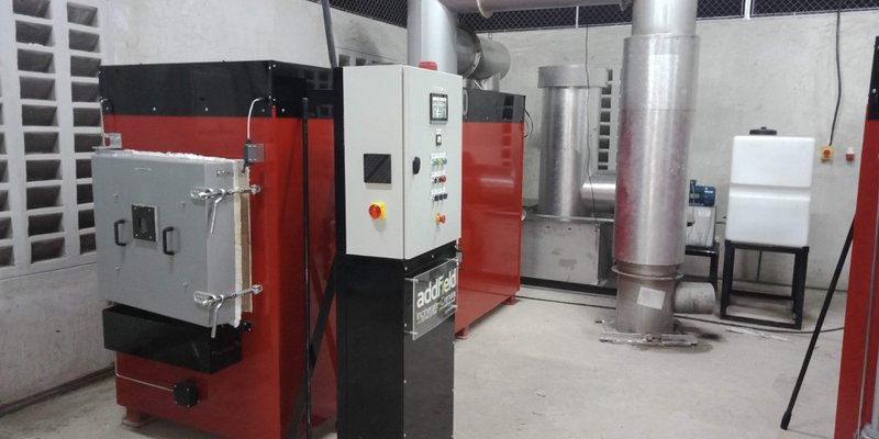 MP400 Medical Waste incinerator with venturi flue gas cleaner