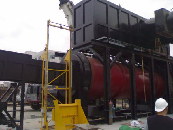 Rotary kiln incineration combustion chambers