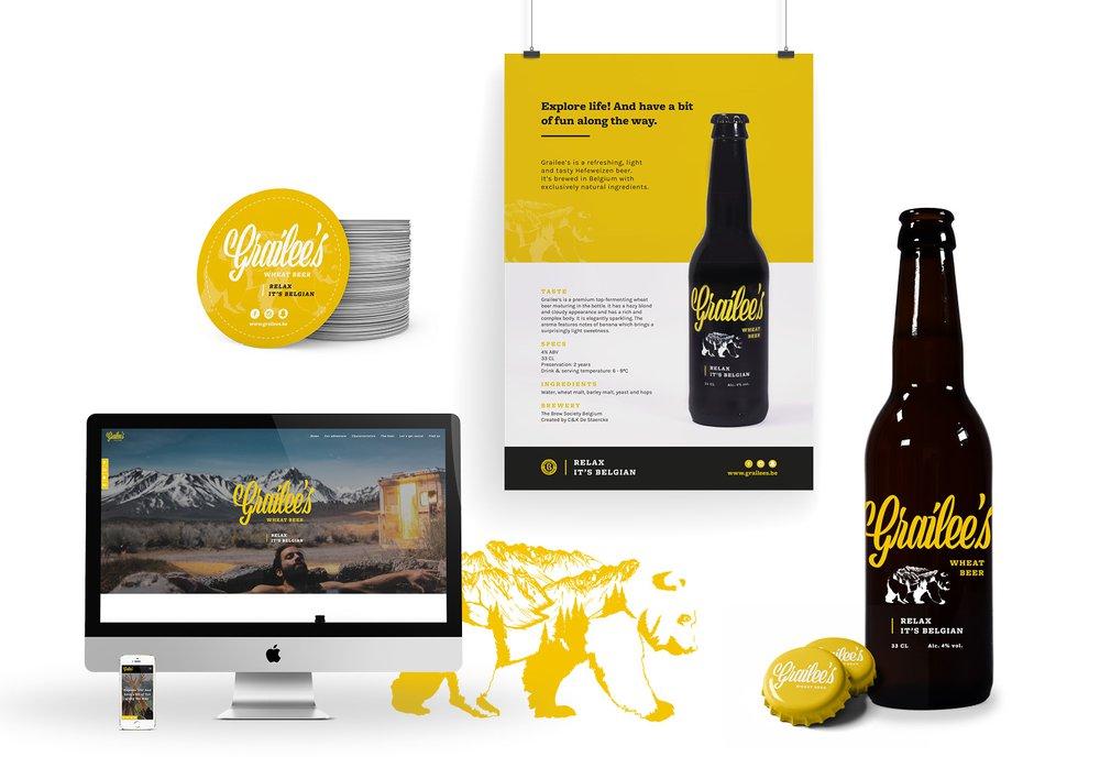 product branding, Grailee's, huisstijl, logo, slogan, merkbescherming, retail, bier, verpakking, label, grafisch ontwerp, positionering, merkconcept, Easybranding, Kortrijk