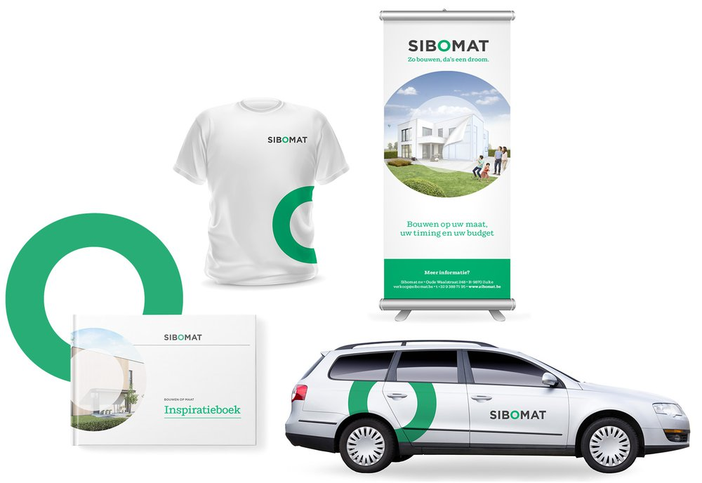 corporate branding, Sibomat, huisstijl, Bouw, grafisch ontwerp,  Easybranding, Kortrijk