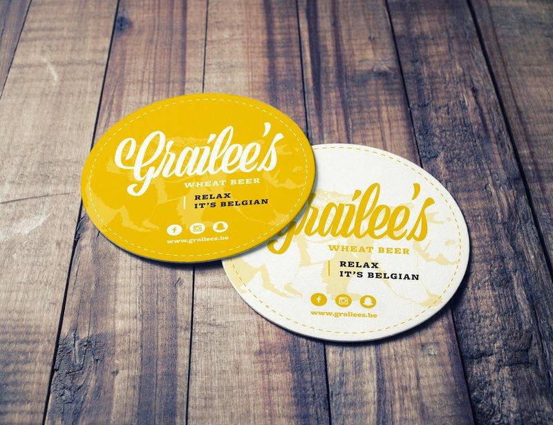 Bierviltjes en bierlabel ontwerp voor Grailee's