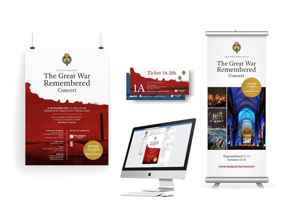 organizational branding, event branding, Last Post Association, Ieper,  huisstijl,  cultureel, Easybranding, Kortrijk