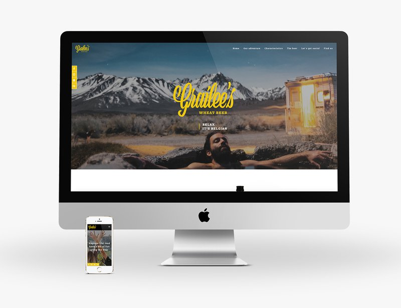 Responsive website voor nieuw biermerk Grailee's