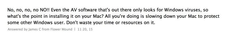 È neccessaria una soluzione AV per il sistema macOS?