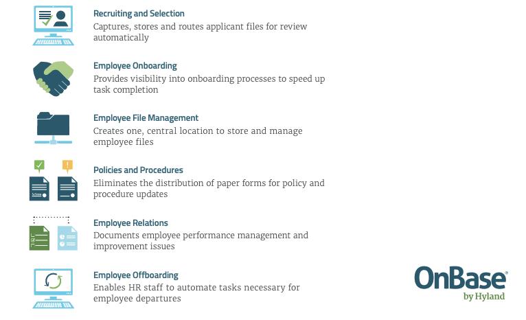 Alcune funzionalità offerte da OnBase per semplificare i processi dell'Area HR