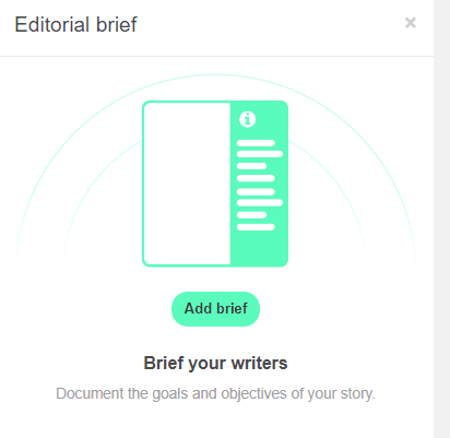 Pic of Story Chief Editorial brief tool