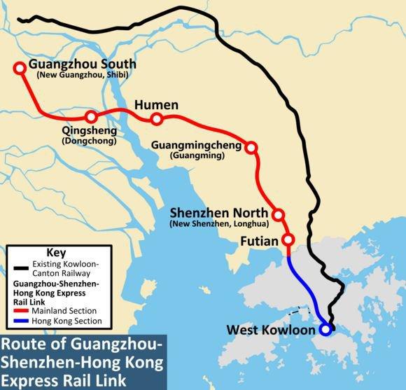 canton fair xrl high speed train map