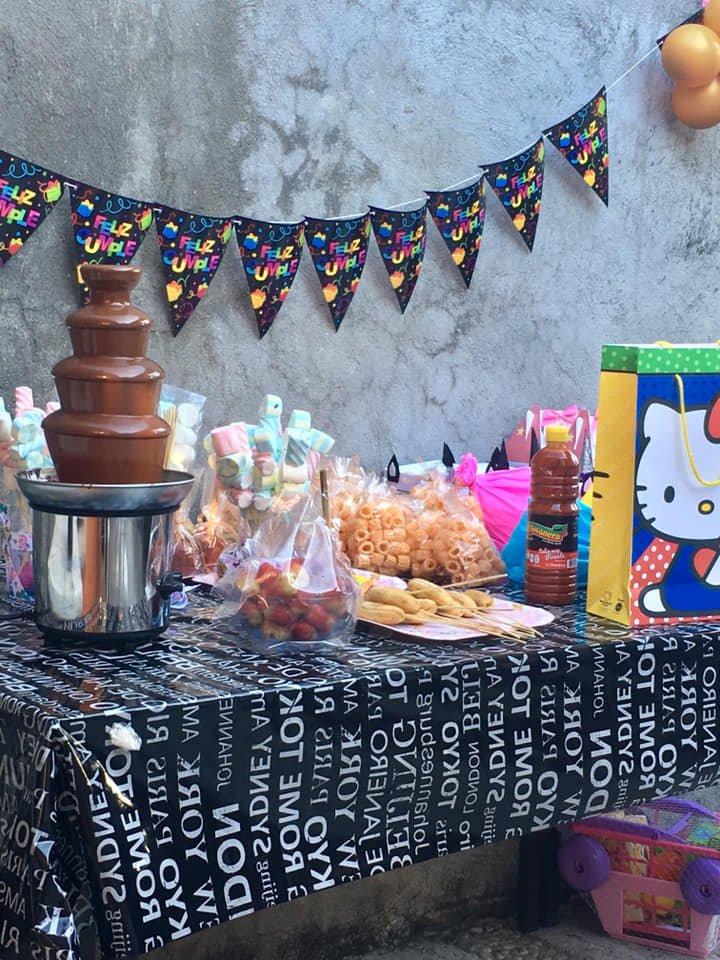 Food & Gift table - Acapulco Birthday Party