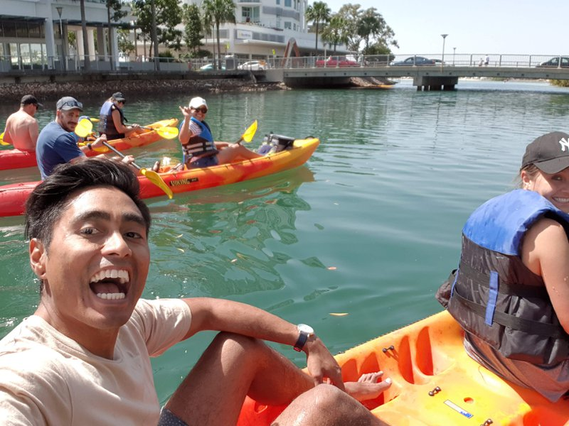 Kayaking through to Cotton Tree