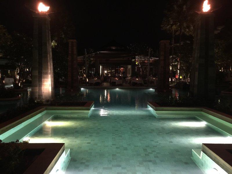 Sofitel Bali Nusa Dua Beach Resort Pool View from Cucina Restaurant