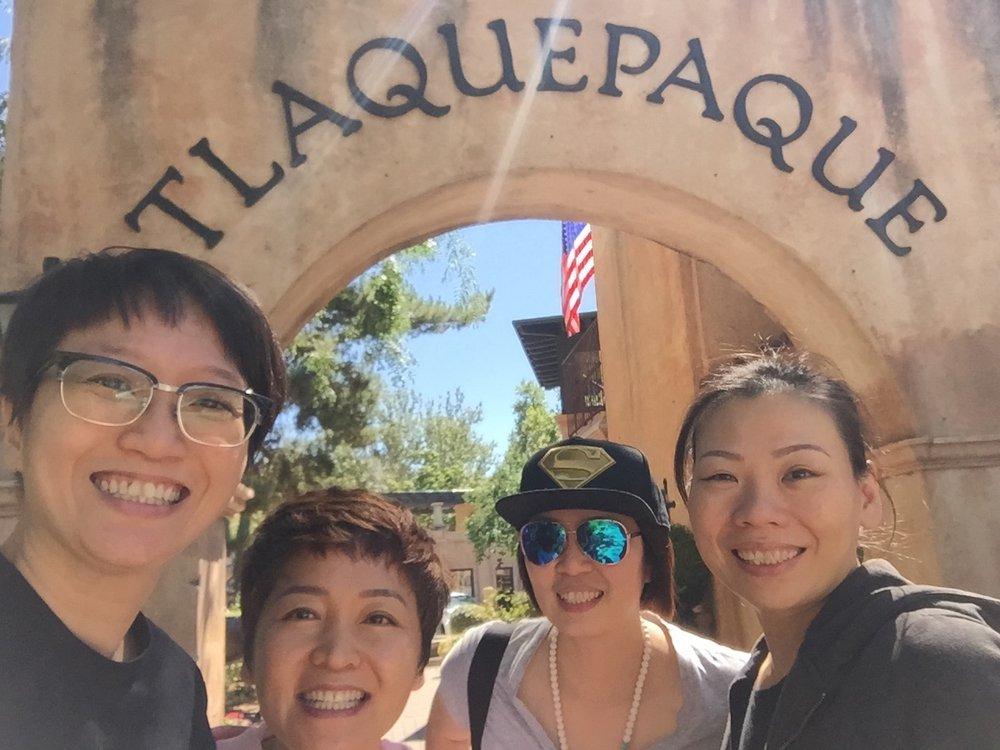 Friends out at Tlaquepaque Sedona