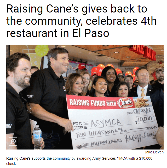 increase-restaurant-traffic-Restaurant in El Paso Giving Back to the Community