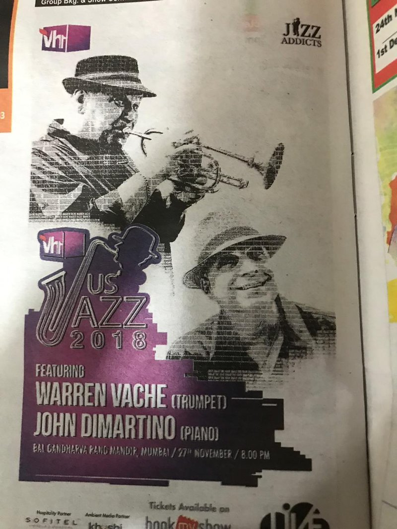 International jazz with the John DI Martino Quartet will be played at the Balgandharva Rang Mandir